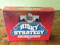 NEW SEALED 1992 Risky Strategy The Game of Campaign Capers Board Political…