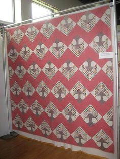 Can you imagine having the fortitude to piece this beautiful quilt...by hand?  1870-80s Tree of Life...amazing!
