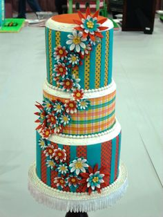 A scrapbook inspired cake :) Pretty Cakes, Cute Cakes, Beautiful Cakes, Amazing Cakes, Fondant Cakes, Cupcake Cakes, Teal Cake, Cricut Cake, Quinceanera Cakes