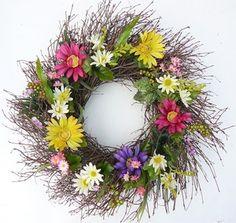 Fancy Fleurs All Weather Door Wreath Twig Wreath, Floral Wreath, Burlap Wreaths, Outdoor Wreaths, Red Ornaments, Christmas Swags, Summer Wreath, Spring Wreaths, Faux Flowers