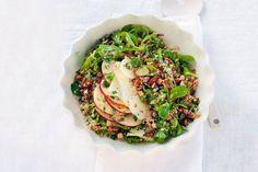 Winter Salad w/Quinoa via Allerhande, Healthy Salads, Healthy Recipes, Healthy Food, Bulgur Salad, Couscous, Winter Salad, Best Dinner Recipes, Veggie Dishes, Salad Recipes