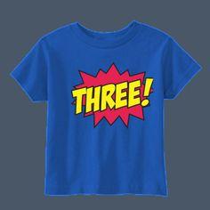 Comic Age Three cute kids t-shirt by airwaves custom tees