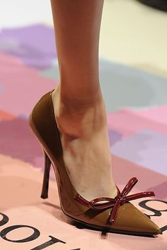 PRADA  - if you could only have one pair of tan shoes!!!