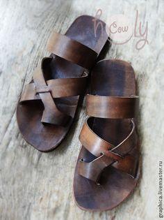"""sandalias de cuero hechas a mano """"Gladiador"""".  Hecho a mano."""