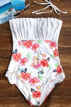 Sheinlove Heather Floral One Piece Swimsuit