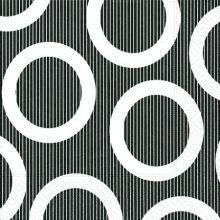 Servietten - Kreise schwarz