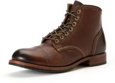 Dark Brown Leather Boots by Frye. Buy for $398 from Neiman Marcus
