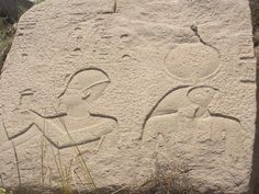 Osorkon I and a falcon deity on a relief. XXIInd dynasty. Bubastis - Tell Basta   par konde