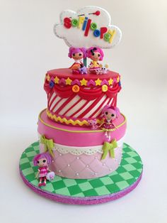 Children's Birthday Cakes - Lalaloopsy cake that I made for my daughter's 4th birthday, she was thrilled.
