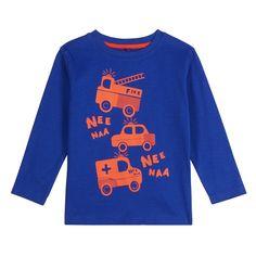 bluezoo Boy's bright blue 'Nee Naa' printed top- at Debenhams.com