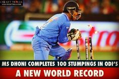 #Dhoni new record...breaks #Sangakkara rcord of 99 stumps. #dhoni #dhoni7 #dhoniism #scorebuzz #score #buzz