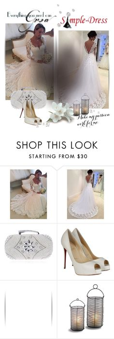 """""""Simple-Dress 1/13"""" by melodibrown ❤ liked on Polyvore featuring Christian Louboutin"""