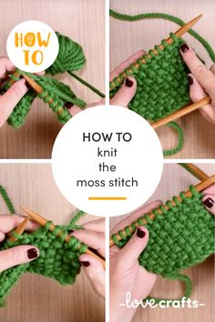 Learn how to knit the moss stitch with this handy how-to! | Learn with LoveCrafts.com