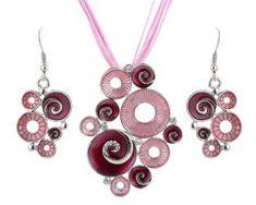 Jedinečný šperkový set v rôznych farebných prevedeniach. Washer Necklace, Drop Earrings, Jewelry, Jewlery, Jewerly, Schmuck, Drop Earring, Jewels, Jewelery