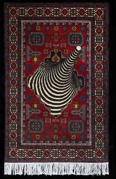 Faig Ahmed makes carpets using traditional Azerbaijani techniques, adding patterns and motifs for a glitchy, modern perspective.  Ahmed adds Optical Illusion