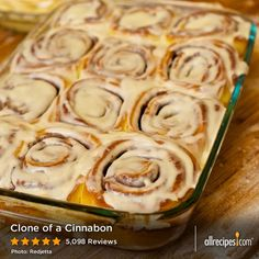 "Clone of a Cinnabon | ""These really did taste JUST LIKE A CINNABON. I followed ANDYTAMI's directions in his/her review that included how to make the recipe without the bread machine."""