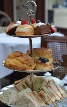 Scones.. and cucumber sandwiches.. and cake.. lots of cake.. cake.. mmm... SORRY what was I saying!?