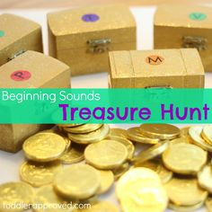 {Beginning Sounds Pirate Treasure Hunt} A great activity to go along with How I Became a Pirate by Melinda Long #CampSunnyPatch