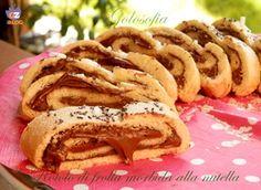 Rotolo di frolla morbida alla nutella-ricetta dolci-golosofia
