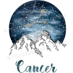 Cancer Zodiac Watercolour Painting ($18) ❤ liked on Polyvore featuring home, home decor, wall art, zodiac home decor, water color painting, paper wall art, watercolor painting and zodiac signs