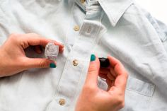 Genius! Use clear nail polish on buttons to keep the threads from breaking.