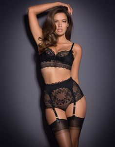 Knickers by Agent Provocateur - Stone Big Brief