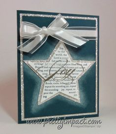 "Cute Christmas Card using Stampin up ""The sounding joy"" set"