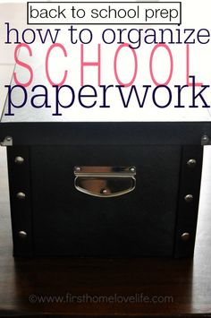 Get a head start on back to school preparations by creating great school paperwork storage to keep for your kids! #organize #organization #backtoschool