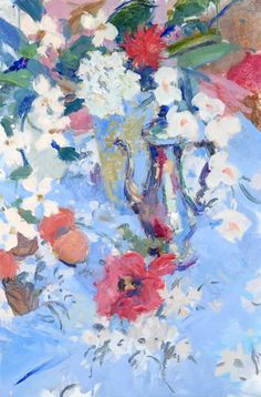 Still Life with Anemones & Coffee Pot, Hugo Grenville Alexandra Park, Lost In Thought, London Garden, Paintings I Love, Morning Light, Still Life, Oil On Canvas, Romantic, Fine Art