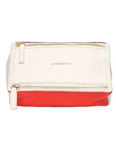 GIVENCHY • Mini pandora color blocked leather bag