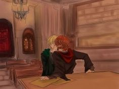 after by bbcchu Harry Potter Anime, Harry Potter Fan Art, Funny Bears, Ron Weasley, Draco Malfoy, Fantastic Beasts, Ships, Deviantart, Painting