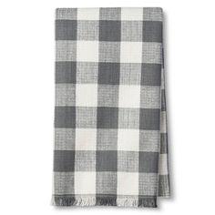 (2) $3.50 Target Woven Gray Plaid Kitchen Towel - Threshold™.