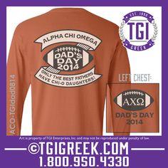 Alpha Chi Omega - TGI Greek - Comfort Colors - Greek T-shirts - Dad's Day #TGIGreek #Deltadeltadelta #dadsday2014 #comfortcolors tgigreek@tgipromo.com