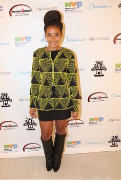 Angela Simmons wears Virgos Lounge