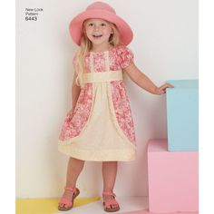 Pattern 6443 Child's Dress with Fabric and Trim Variations
