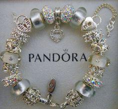 Authentic Pandora Bracelet with Pandora hinged by charmingelementz, $169.00