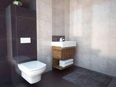 #łazienka z problemami. Kominy w małej łazience. Często są tam gdzie przeszkadzają. Oto jeden ze sposobów na poradzenie sobie z takim drobnym problemem. www.VALENT.pl Toilet, Bathroom, Washroom, Flush Toilet, Full Bath, Toilets, Bath, Bathrooms, Toilet Room