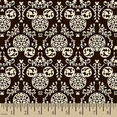 Mickey Mouse Damask Fabric mickey mouse black and by TheCozyCubby Wallpaper Do Mickey Mouse, Mickey Mouse Fabric, Disney Mickey Mouse, Minnie Mouse, Disney Quilt, Disney Fabric, Disney Home Decor, Disney Crafts, Online Craft Store