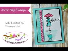Mirror Image Technique with Beautiful You - Stampin Up Card Ideas from Canadian Stampin Up Demonstrator Sandi MacIver
