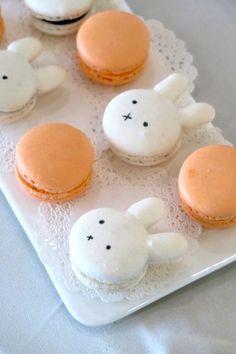 Bunny Macarons from a Miffy Bunny Birthday Party on Kara's Party Ideas | KarasPartyIdeas.com (11)