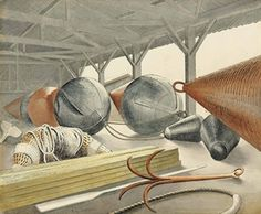 Eric Ravilious (1903-1942) , Buoys and Grappling Hook | Christie's