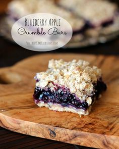 Blueberry Apple Crumble Bars. Try using a coconut flour strudel and pears instead of apples