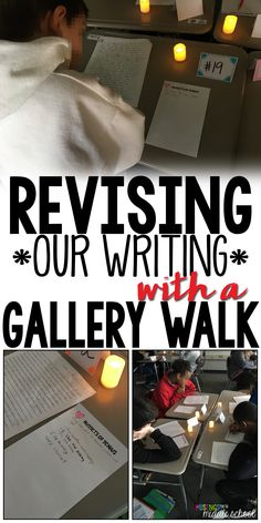 This week I used a Gallery Walk with students' writing drafts before we tackled the revising and editing process. It.was.awesome! Read my blog post all about it!