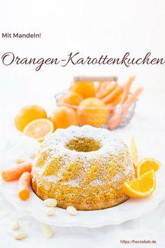 Rezept für einen supersaftigen Karottenkuchen mit Orangen und Mandeln