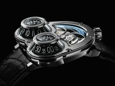 """Another fantastic masterpiece launched by Maximilian Büsser & Friends, called the MegaWind Hronological Machine """"Time and Power – who — read Luxury Watches, Rolex Watches, Watches For Men, Gq, Fancy Shoes, Futuristic Design, Mechanical Watch, Watch Brands"""