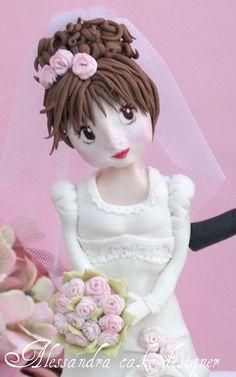 Topper Weddig Cake by Alessandra Cake Designer, via Flickr