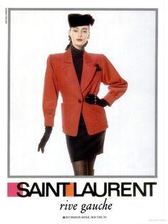 1988-89 - Saint Laurent rive gauche adv