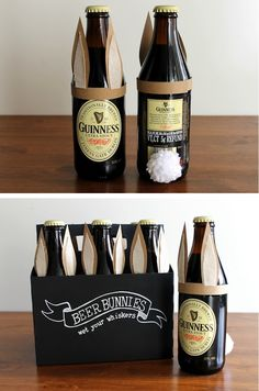 Beer Bunnies. Easter basket for the beer lover.