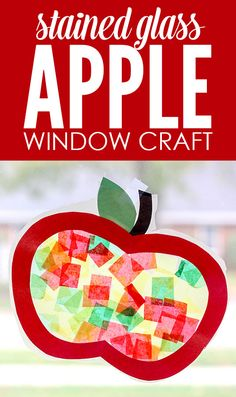 Step by step tutorial to make a simple apple stained glass window decorations…