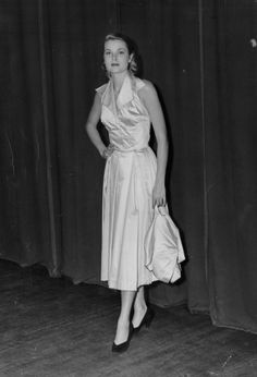princessgracekelly1956: June 30, 1950: Photograph shows Grace Kelly, as she appeared in a recent fashion show given at Ocean City. Miss Kelly, who has just completed a season in television in New York, leaves soon for Hollywood, where she has been given a movie contract.